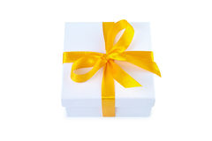 Gift box with clipping path. Royalty Free Stock Photos