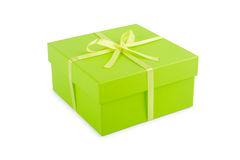 Gift box with clipping path. Stock Photo