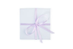 Gift box with clipping path. Royalty Free Stock Photo