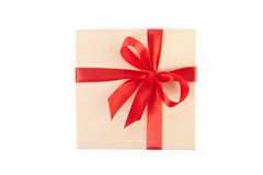 Gift box with clipping path. Royalty Free Stock Images