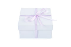 Gift box with clipping path. Stock Image