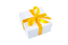 Gift box with clipping path. Stock Images