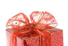 Gift box closeup. Isolated on white background stock photos