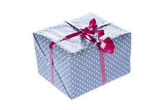 Gift box closeup. On white background royalty free stock images
