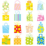 Gift box collection Royalty Free Stock Photography