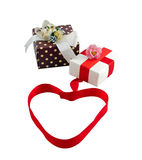 Gift box. Collection isolated over white stock images