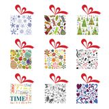 Gift box collection vector illustration. Set of gift boxes vector illustration, vector collection isolated on white background Royalty Free Stock Photography