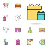 gift box colored icon. birthday icons universal set for web and mobile stock illustration