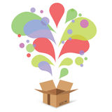 Gift box. Colorful illustration with  gift box on a white background Royalty Free Stock Images