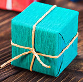 Gift box in a colorful package Stock Images