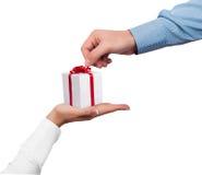 Gift box concept Stock Photos