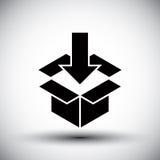 Gift box conceptual simple single color new idea vector symbol. Stock Photography