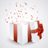Gift box with confetti. Stock Images