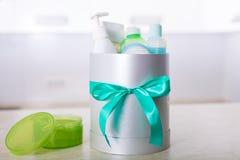 Gift box with cosmetics Stock Photos