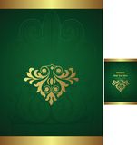 Gift Box Cover. Illustration of elegance floral background for food and drink industry Stock Images