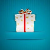 Gift box cut out of paper Royalty Free Stock Photo