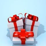 Gift box 3d illustration Stock Photography