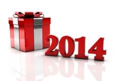 2014 gift box Royalty Free Stock Photo