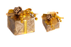 Gift box decorated Stock Images