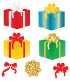 Gift box decorated bow,vector Royalty Free Stock Image