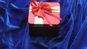 Gift in a box stock video footage