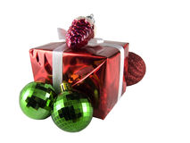 Gift box and decoration Stock Photos