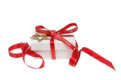 Gift box decoration stock photography