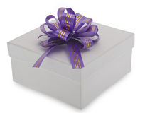 Gift box with decoration ribbon Stock Images