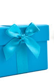 Gift box with a decorative bow for celebrating Stock Images