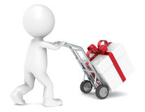 Gift Box Delivery Royalty Free Stock Photo