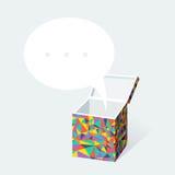 Gift box design element Stock Photography