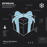 Gift box design vector background Stock Photography