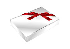 Gift box design  on white Royalty Free Stock Images