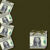 Gift Box Dollar Graphic Stock Images