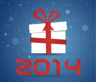 Gift box 2014 Royalty Free Stock Photography