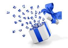 Gift box emitting little gift boxes Royalty Free Stock Image