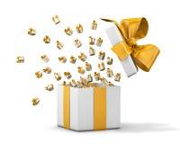 Gift box emitting little gift boxes Stock Image