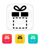 Gift box empty icons on white background. Royalty Free Stock Photography