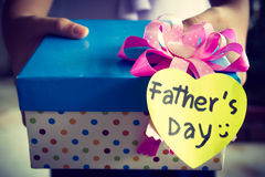 Gift box for Father's Day Stock Photo