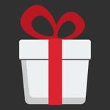 Gift box flat design icon Stock Image
