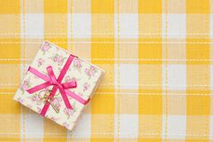 Gift box of floral design Royalty Free Stock Image