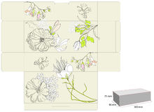 Gift box with flowers Royalty Free Stock Images