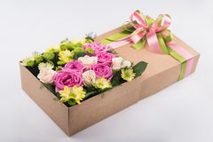 Gift box with flowers Stock Photo
