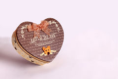 Gift box in the form of heart  as a gift Stock Image