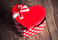 Gift box in a form of heart Royalty Free Stock Photo