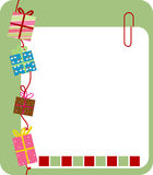 Gift box and frame Royalty Free Stock Photo