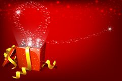 Gift Box full of Surprise Royalty Free Stock Images