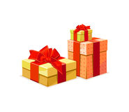 Gift Box: A gift box in 3 color versions Royalty Free Stock Photos