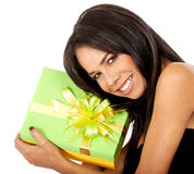 Gift box girl Stock Images