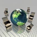 Gift box with globe Stock Photos